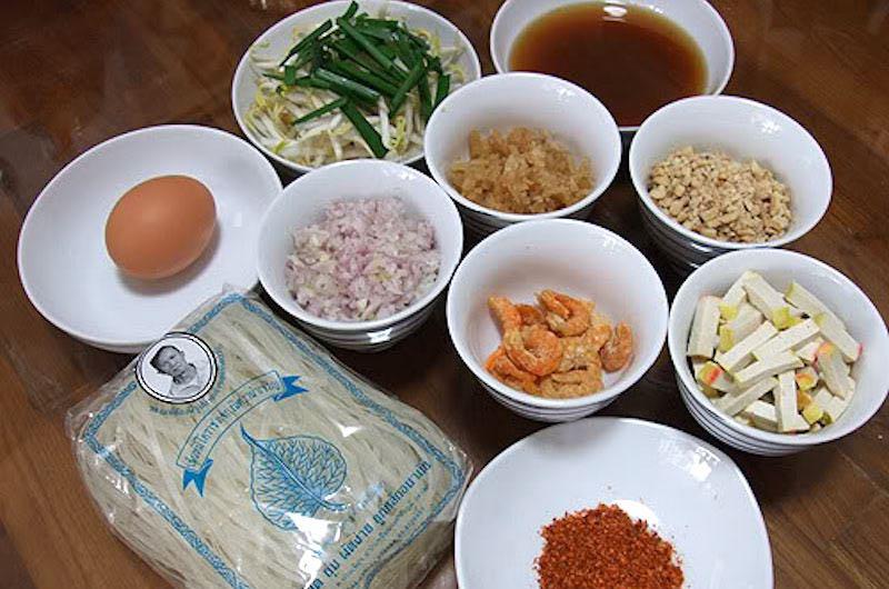 ingredientes de Pad Thai