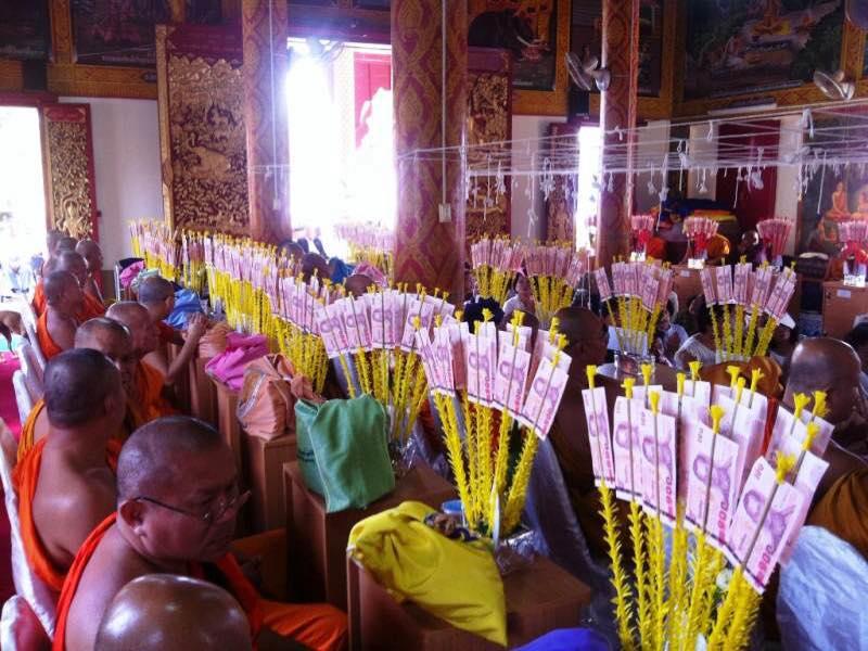 Ofrendas budistas al templo