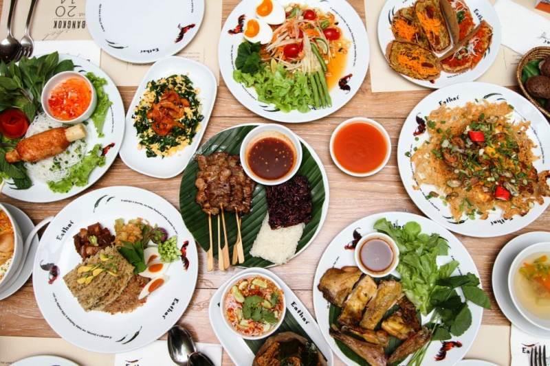 Platos de tailandia
