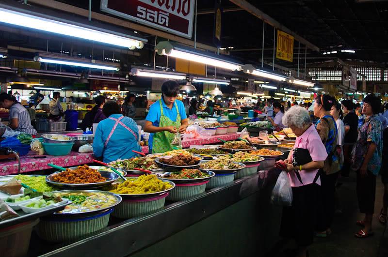 Puestos de comida tailandesa