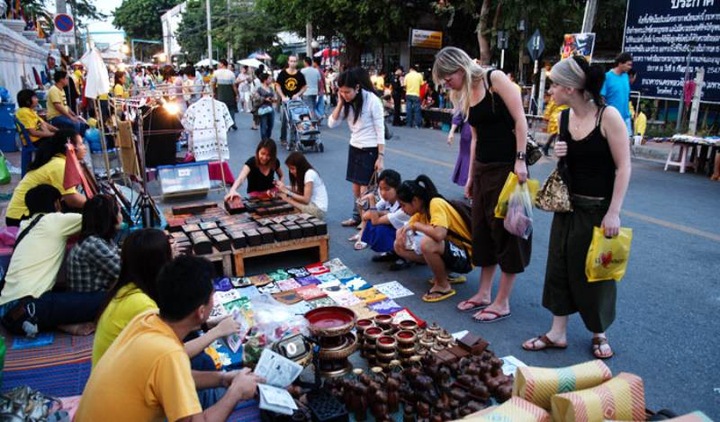 Mercadillo del fin de semana en Phuket