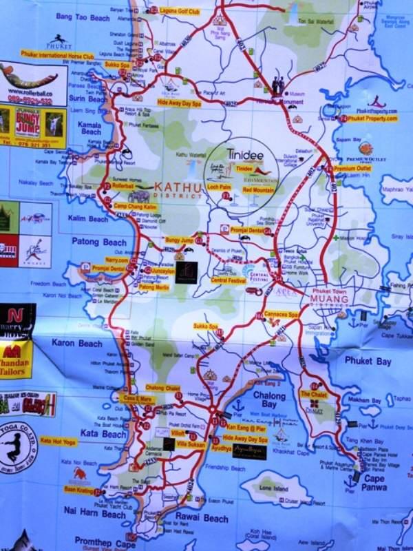 Mapa de Phuket