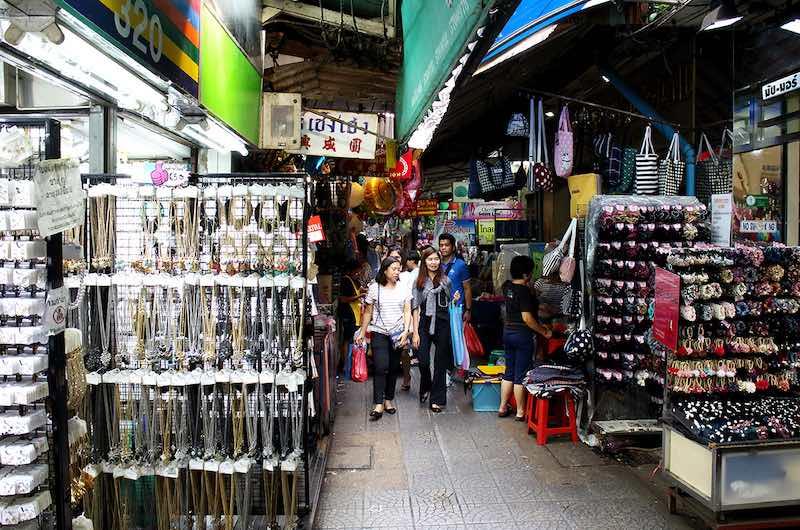 El barrio chino de Bangkok: Mercado de Sampaeng