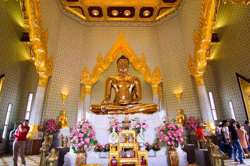 El barrio chino de Bangkok: templo del Buda de Oro