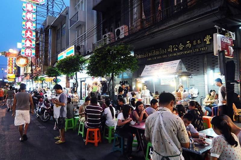 El barrio chino de Bangkok: La calle Yaowarat