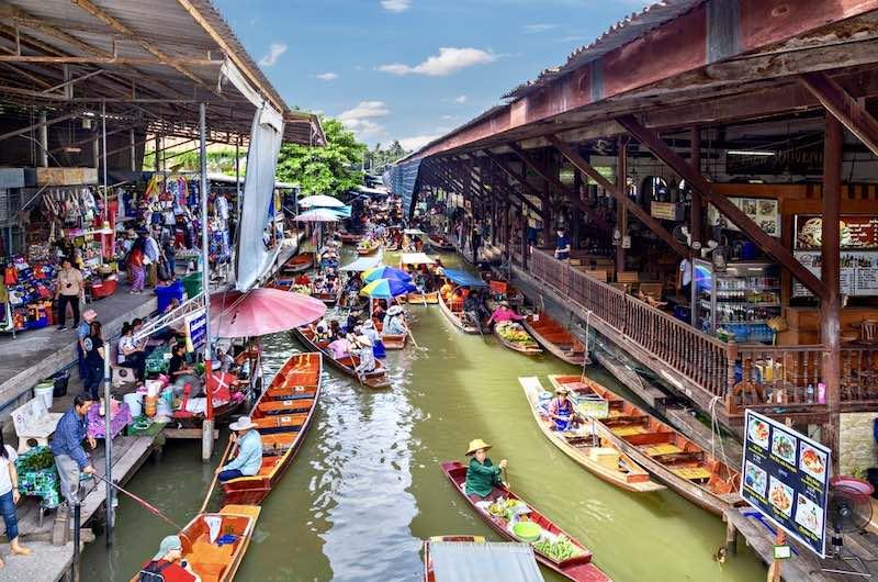 Mercado flotante de Damoen Saduak