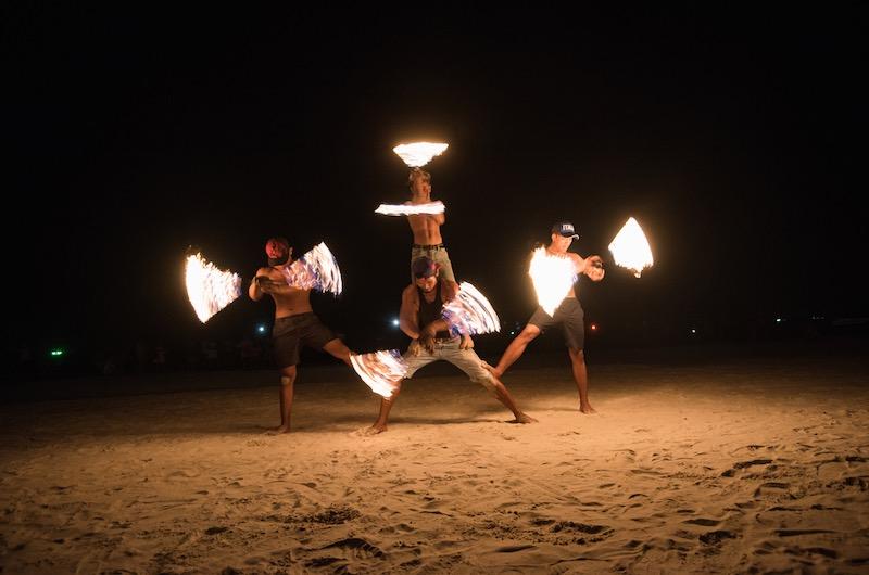 vida nocturna en Koh Samui : shows con fuego