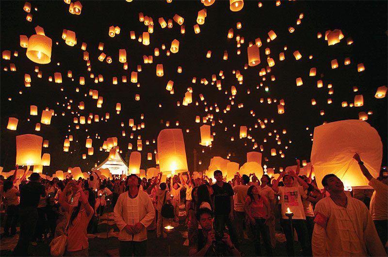 visitar tailandia : Festival de las linternas