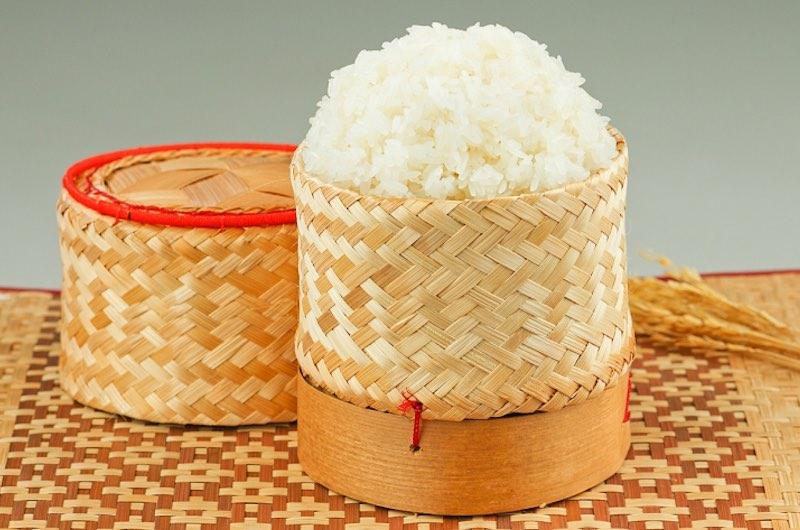 El arroz pegajoso