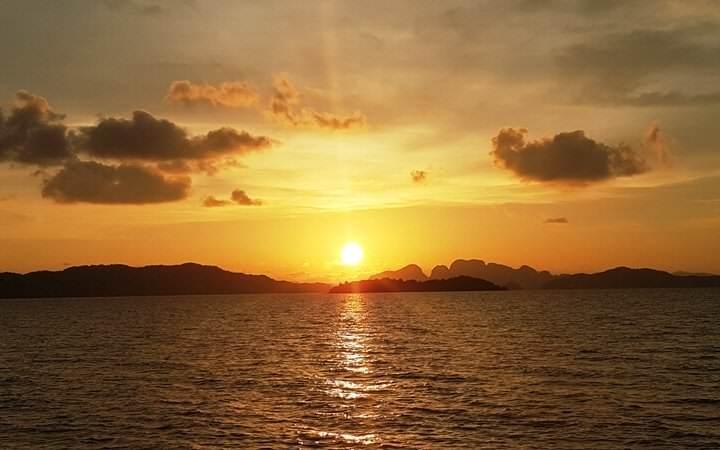 Puesta de sol en Koh Yao Noi