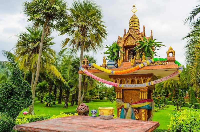 Las casas de espíritus de Tailandia