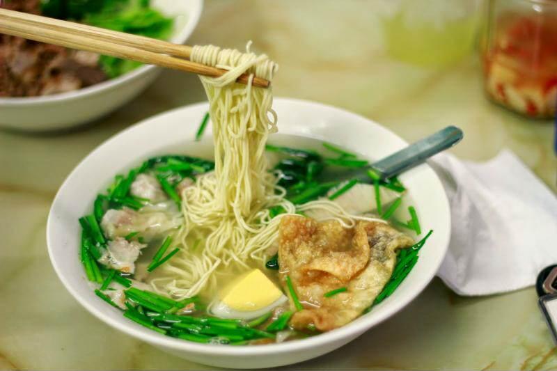 Sopa  con Won Ton