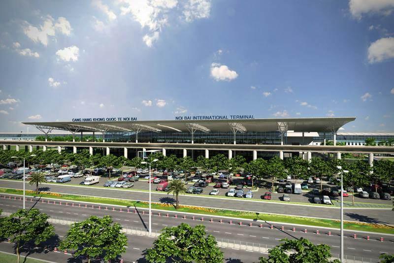 Exterior del aeropuerto de Hanoi
