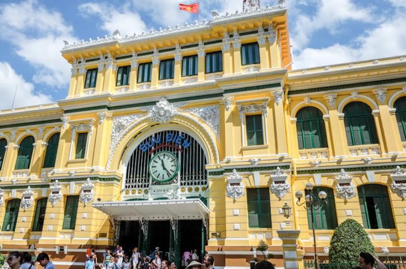 La oficina de correos en Ho Chi Minh