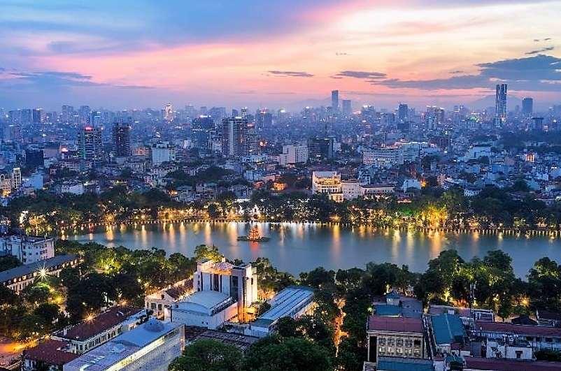 Ciudad ed Hanoi, capital de Vietnam