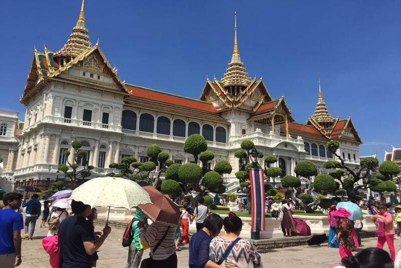 Palcio Real de Bangkok en JULIO