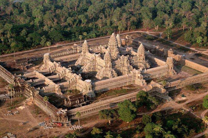 Vista aerea del templo de Angkor Wat
