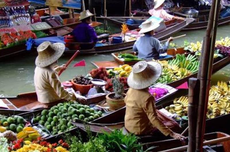 Bangkok Mercado Flotante