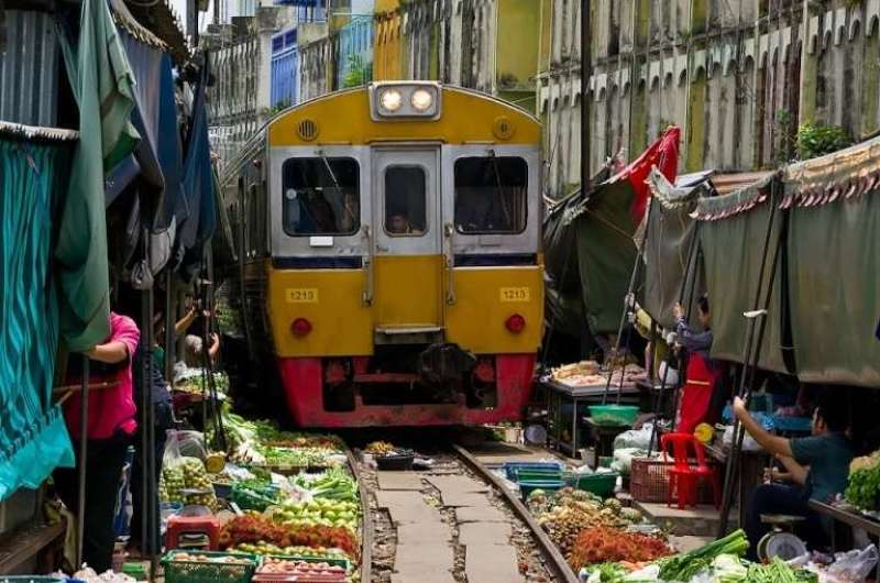 Bangkok Mercado del Tren