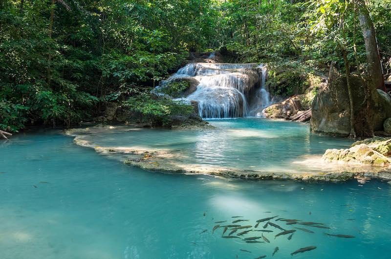 Que ver en Kanchanaburi Cascadas de Erawan
