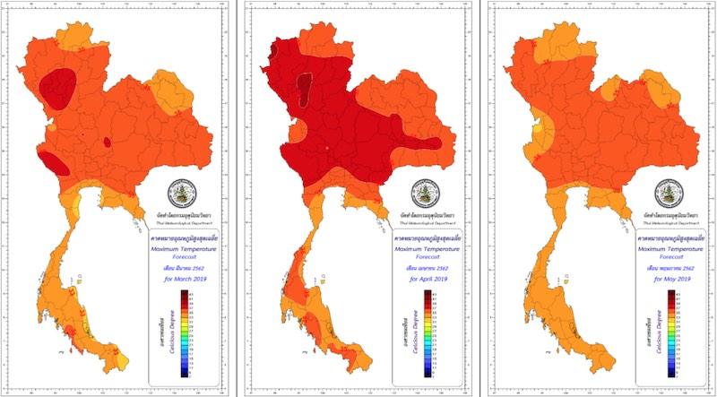 El tiempo en el verano en Tailandia