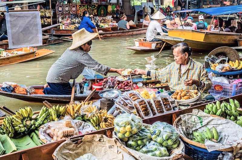 Tailandia en una semana Mercado flotante