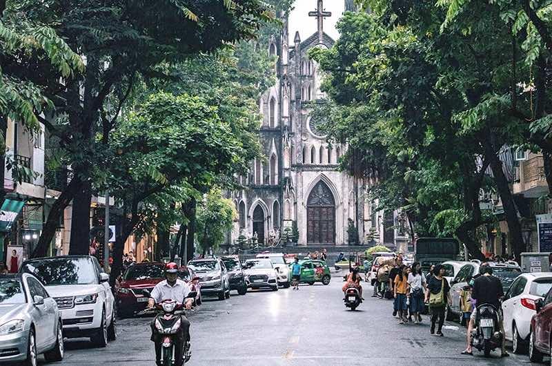 La temperatura en Hanoi