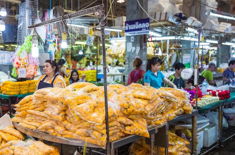 Qué venden en Pak Khlong Talad