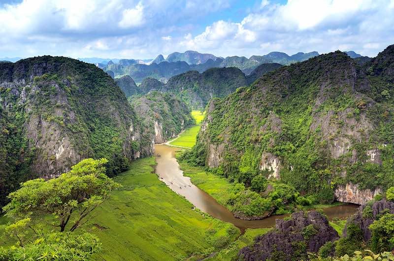 viajar al sudeste asiático Paisajes de Tam Coc