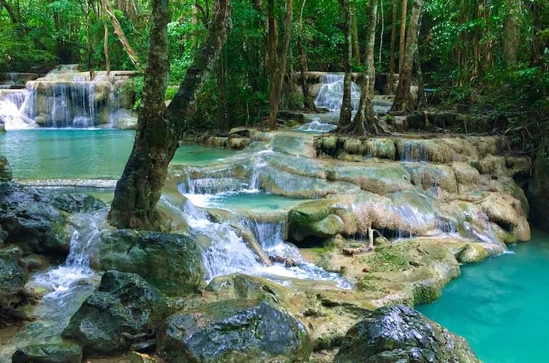 Las cascadas de Erawan
