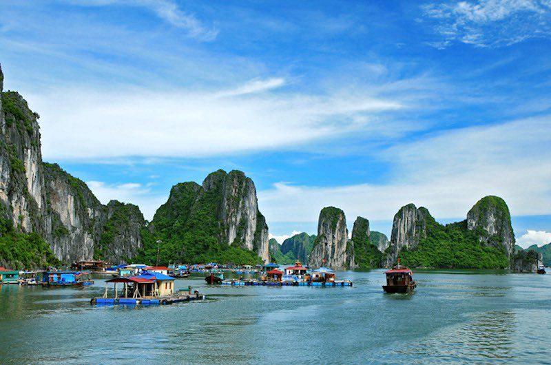 ruta ideal por Vietnam, Camboya y Laos : bahía de Halong