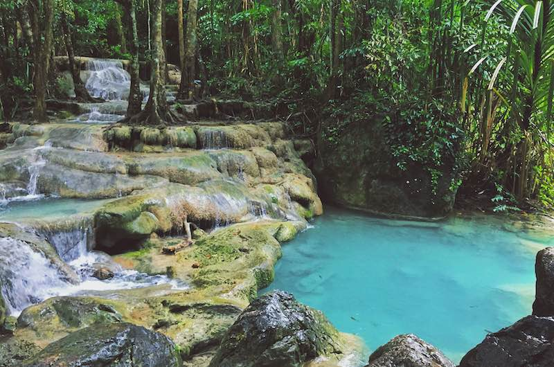 Cascadas de Erawan en Kanchanaburi
