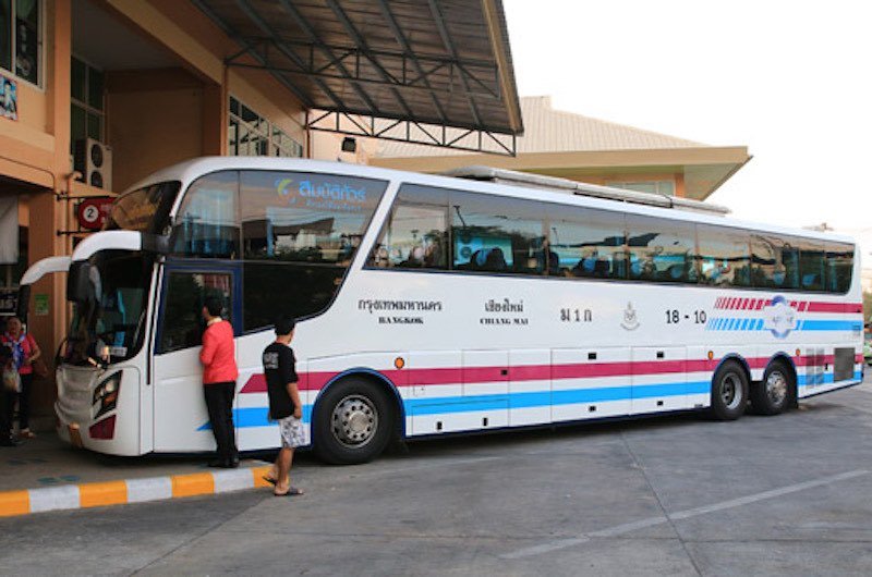De Bangkok a Chiang Mai en autobús