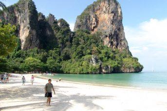 La playa de Krabi, Tailandia