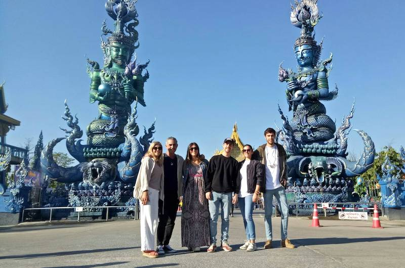 El templo azul en Chiang Rai