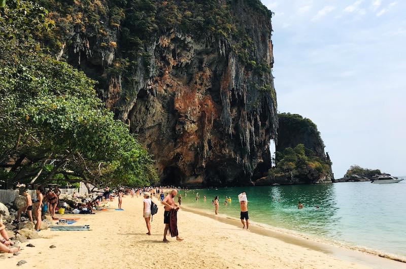 Playa de Phra Nang en Railay