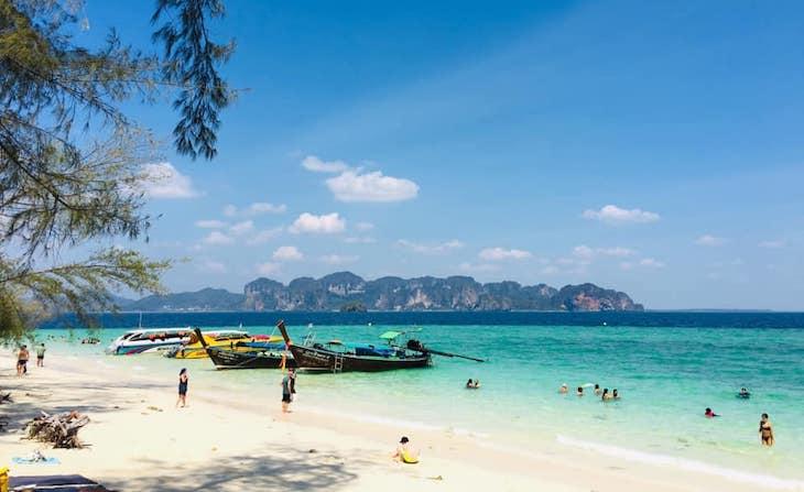 Playas de Tailandia en Agosto