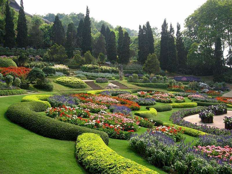 Jardines del Palacio de Doi Tung