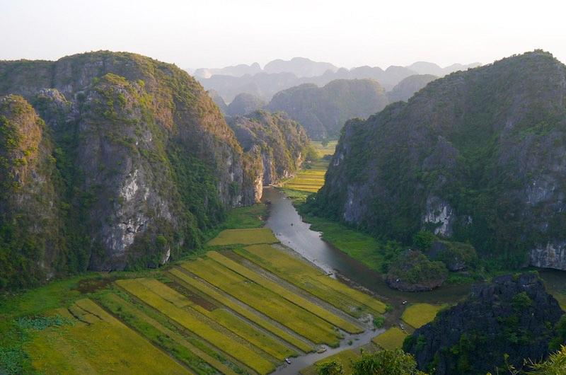 la zona de Ninh Binh en Vietnam