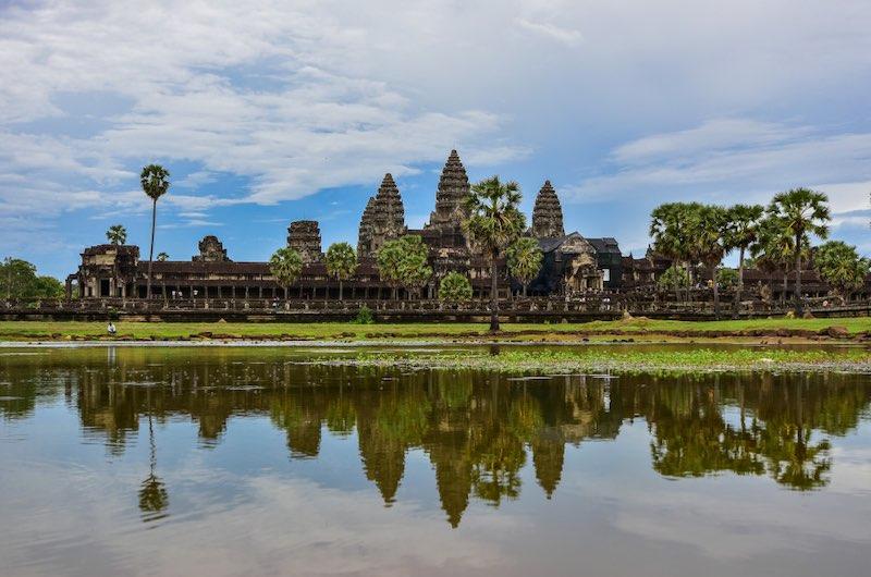 las ruinas de Angkor Wat en Camboya