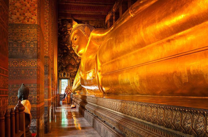 templo del Buda reclinado en Tailandia