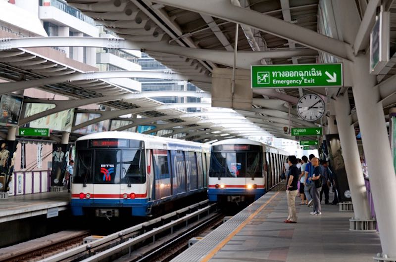 BTS Skytrain en Bangkok