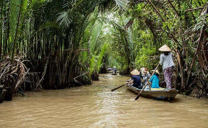 Paseo los canales Delta del Mekong