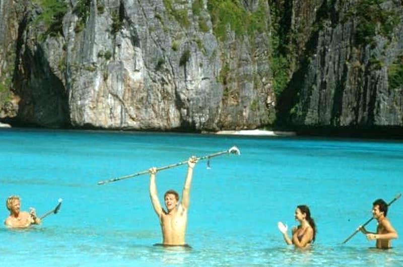 Pelicula La playa Tailandia
