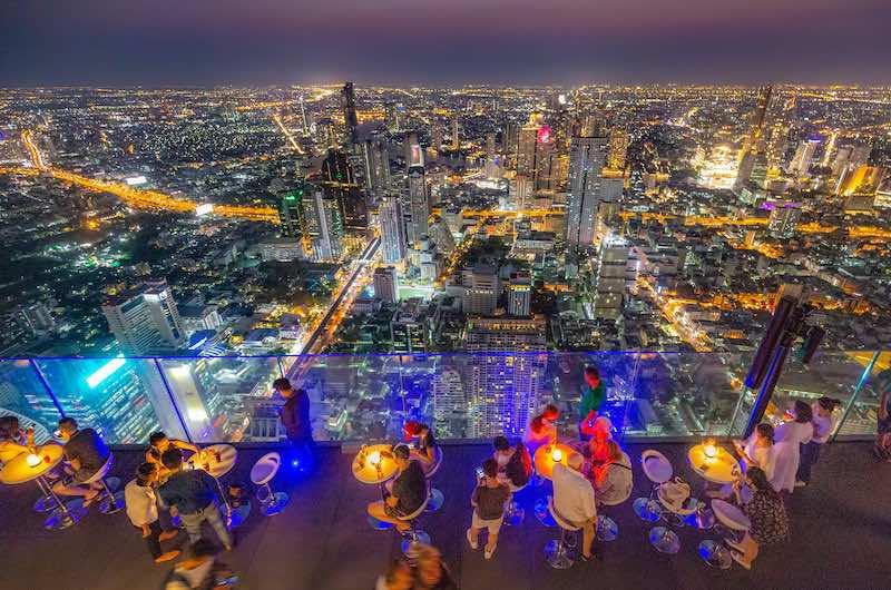 El Rooftop Bar del rascacielos Mahanakhon