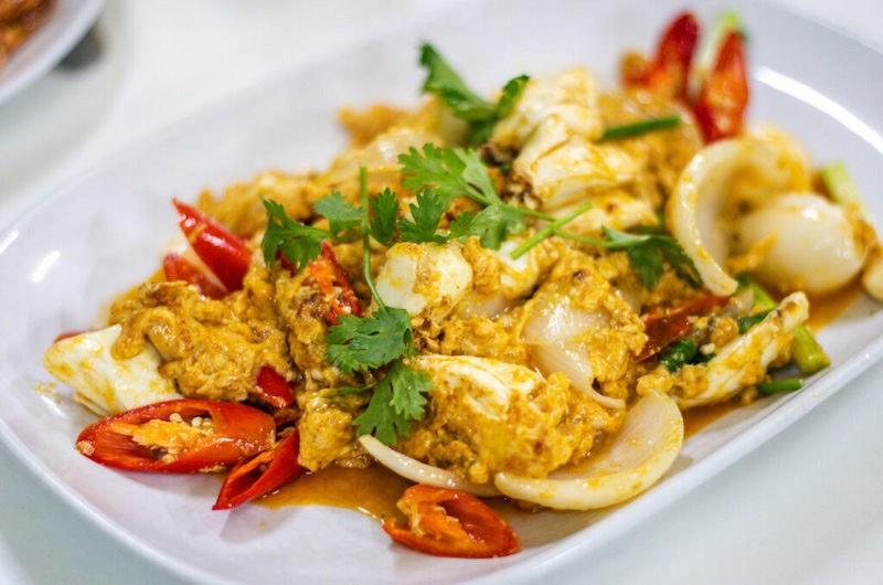 Curry amarillo de cangrejo